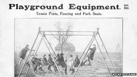 1920s advert for play equipment