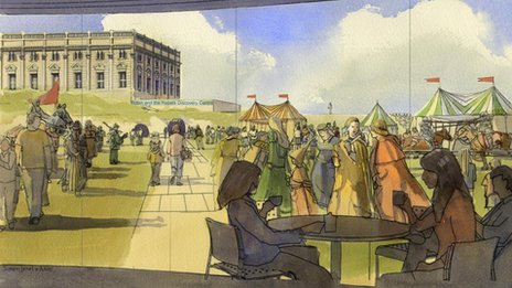 Artist's impression of redeveloped Nottingham Castle