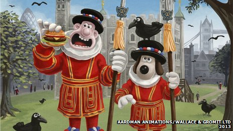 Wallace & Gromit at the Tower of London