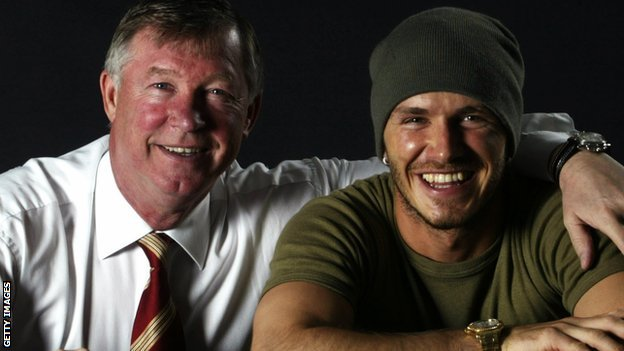 Sir Alex Ferguson and David Beckham
