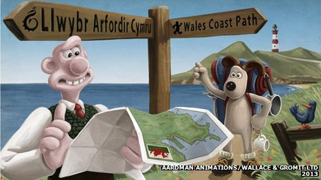 Wallace and Gromit in Wales