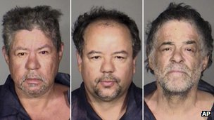 Pedro Castro (left), Ariel Castro (centre) and Onil Castro in a combination of police photos, 7 May 2013