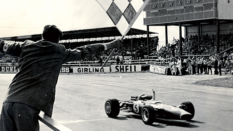 Jim Clark winning at Silverstone in 1967