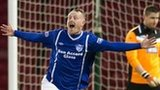 Andy Rodgers celebrates his winner