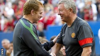 Celtic's Neil Lennon and Sir Alex Ferguson