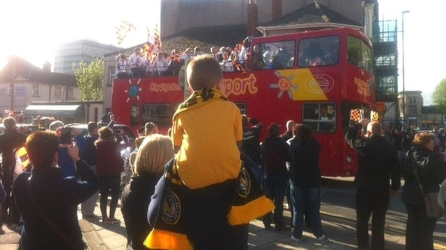 The bus wound its way through Newport