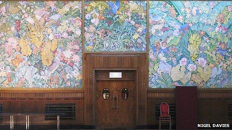 Panels by Sir Frank Brangwyn at Brangwyn Hall, Swansea