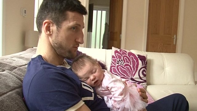 Carl Froch with daughter Natalia