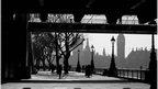 London's Southbank in winter