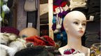 mannequins at Manchester Christmas market