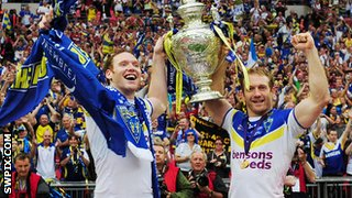 Joel and Michael Monaghan lift the Challenge Cup in 2012