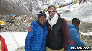 Sherpa Dorje Gylgen and Kenton Cool