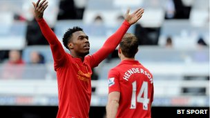 Liverpool player Daniel Sturridge
