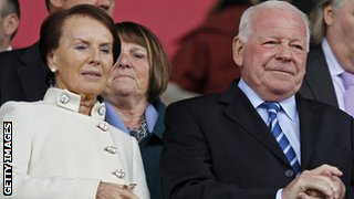 Dave Whelan and his wife Pat