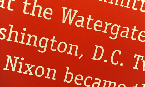 Detail from Watergate display at the Richard Nixon Museum