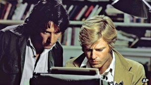 Dustin Hoffman and Robert Redford in All The President's Men