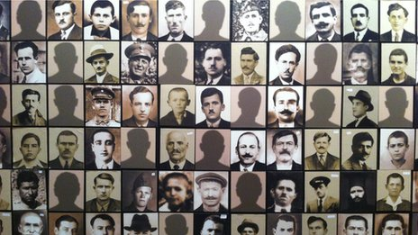 Photos of victims of Kalavryta massacre in museum