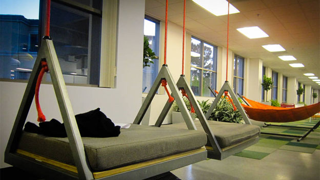 The 'thinking hammocks' at Box's headquarters