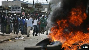 Violence in Nairobi, Kenya on 27 December 2013