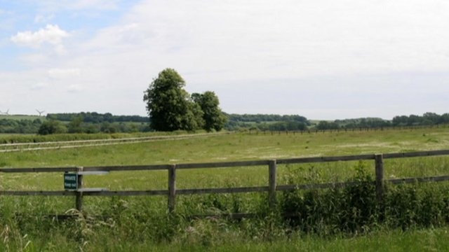 Site of the proposed wind farm