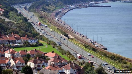 A55 at Colwyn Bay