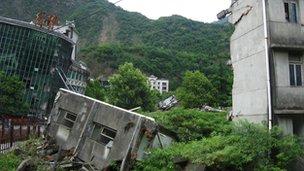 A memorial in Beichuan town in Sichuan province