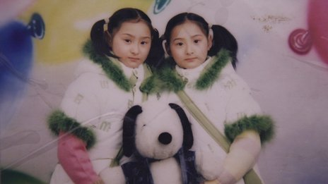 Twins Zhao Yaqi and Zhao Yajia, in an undated image