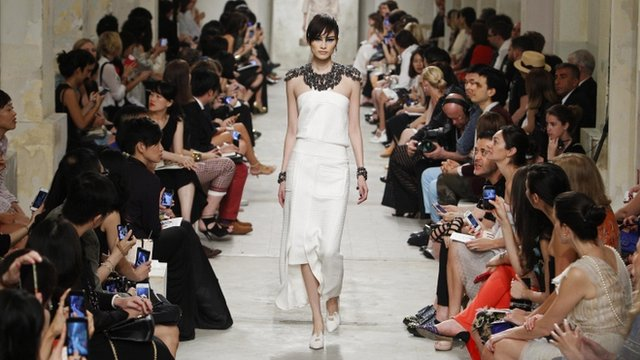 Model at Chanel's Cruise 2013/2014 Collection in Singapore
