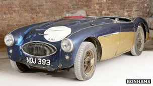 Shell of the Austin Healey 100S test car