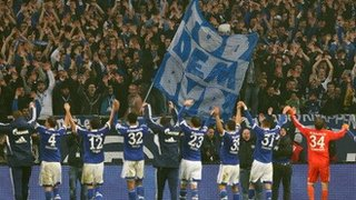 Schalke celebrate a derby win