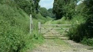 Disused track between Uckfield and Lewes