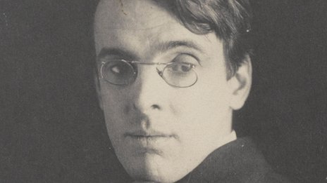 Alice Boughton's photograph of a young W B Yeats