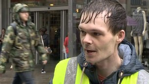 Richard Loftus - Big Issue seller