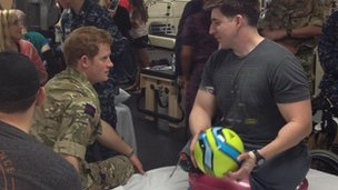 Prince Harry and Tim Payne