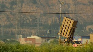 Israel's 'Iron Dome' short-range missile defence system outside Haifa