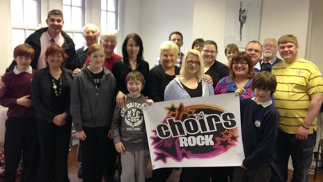 The first Choirs Rock Families