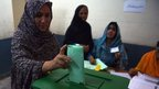 Woman votes in Islamabad (11 May 2013)