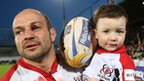 Rory Best and son Ben
