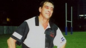 Tony Nicklinson in rugby jersey
