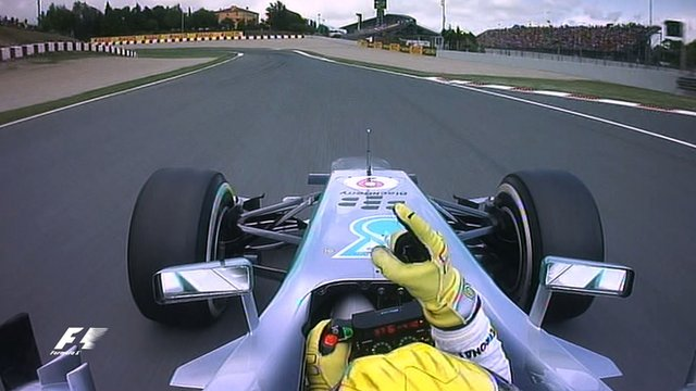 Ride on-board with Mercedes' Nico Rosberg as he takes pole position for the Spanish Grand Prix