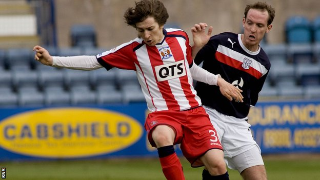 Chris Johnston impressed for Kilmarnock at Dens Park