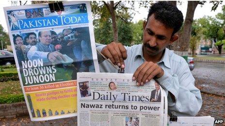 "Pakistan media are euphoric over ""historic"" elections"