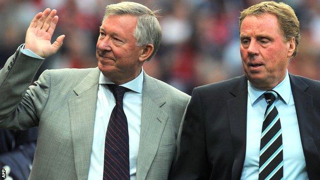 Sir Alex Ferguson with Harry Redknapp