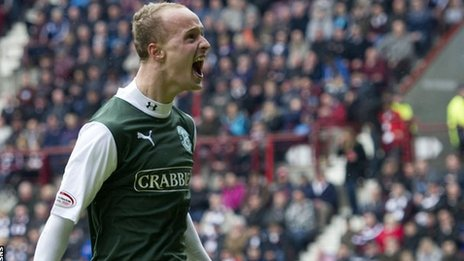 Leigh Griffiths scored his 100th career goal at Tynecastle
