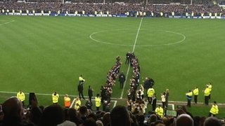 Everton guard of honour