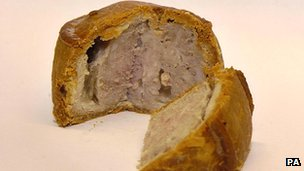What is special about a Melton Mowbray pie?