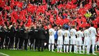Guard of honour at Old Trafford