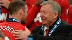 Wayne Rooney and Sir Alex Ferguson