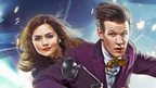 Poster showing Matt Smith and Jenna Louise Coleman as the Doctor and Clara