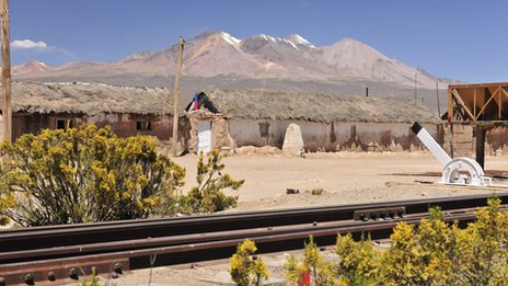A deserted station along the Arica-La Paz railway (file photo)